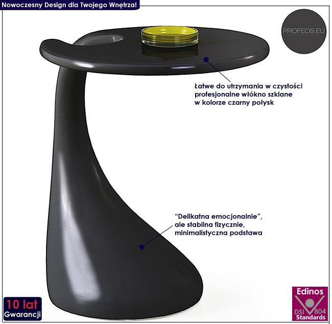 stolik kawowy lakierowany ława czarny połysk Altera