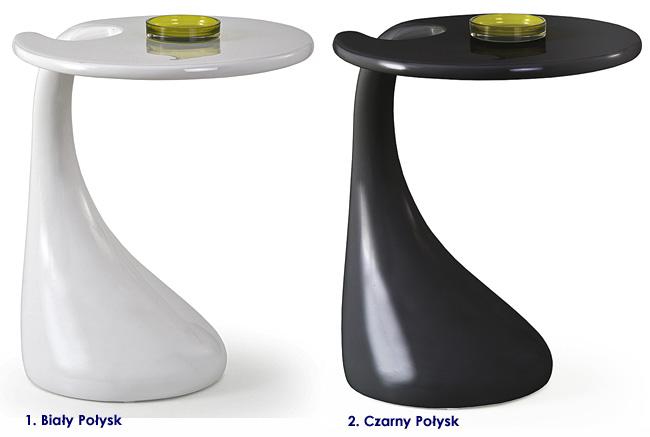 okrągły stolik kawowy wysoki połysk ława Altera