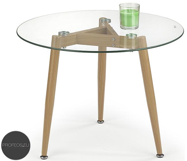 okrągły stolik kawowy szklany olcha ława Atika