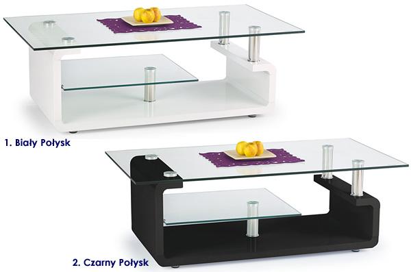 Lakierowany szklany stolik kawowy Bella