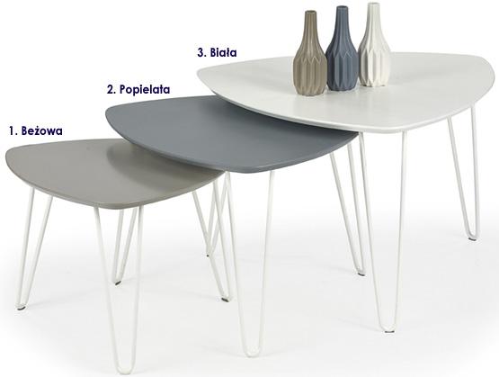 Minimalistyczne stoliki kawowe Brenda