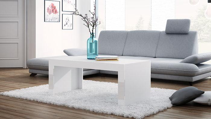 Biały stolik kawowy 120x60 cm Elina