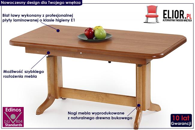 rozkładany podnoszony ławostół Laster stół