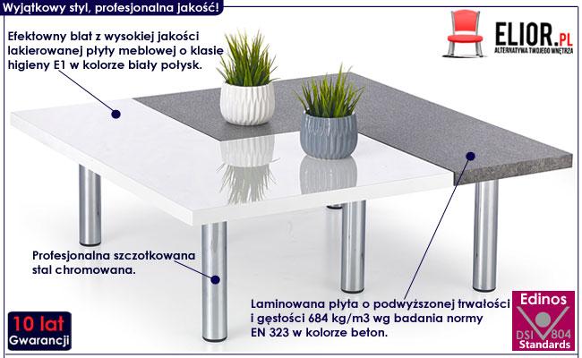 Zestaw dwóch ław w minimalistycznym stylu Libra
