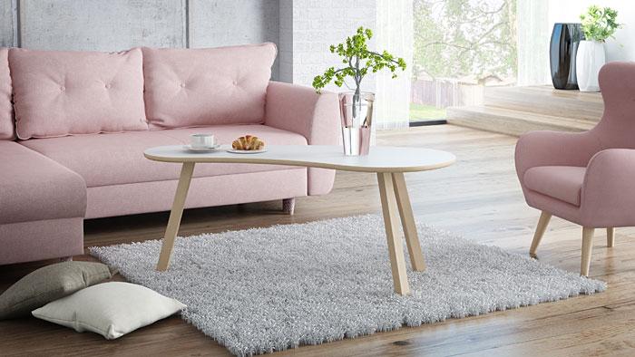 Skandynawska biała ława drewniana Lindo 4X