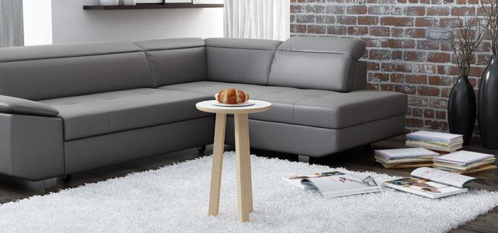 Okrągły biały stolik kawowy 35x35 cm Lindo 5X