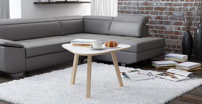 Biały stolik kawowy do salonu Lindo 7X
