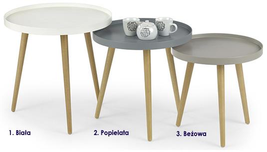 Skandynawski stolik kawowy okrągły Pixi