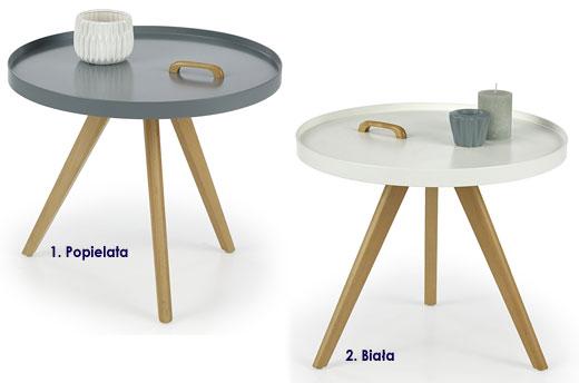 Minimalistyczny stolik kawowy okrągły Sisi