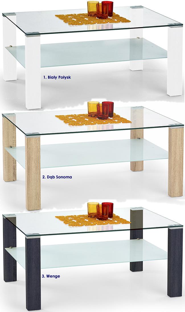 stolik kawowy do salonu prostokąt ława szklana Sonea