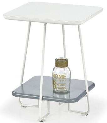 Kwadratowy stolik do salonu biały Tibia
