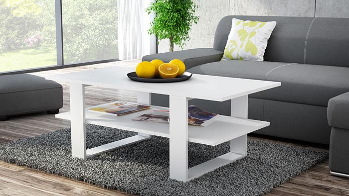 Biały stolik kawowy do salonu Tonsa
