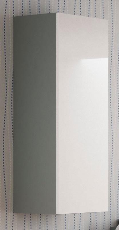 Wisząca szafka z półkami biało-szara Vomes 8X