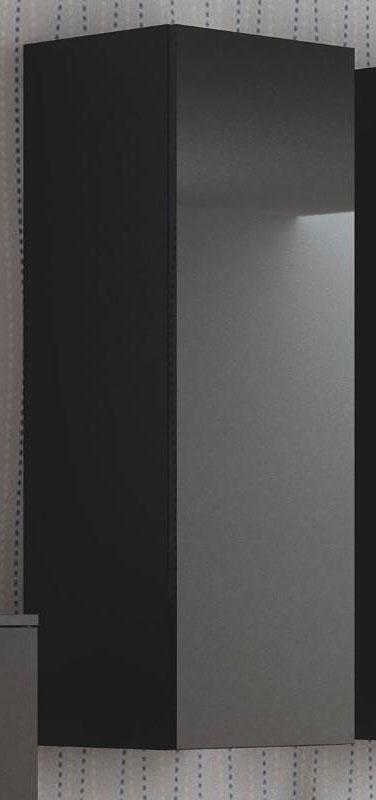 Czarna lakierowana szafka wisząca 120 cm Vomes 8X