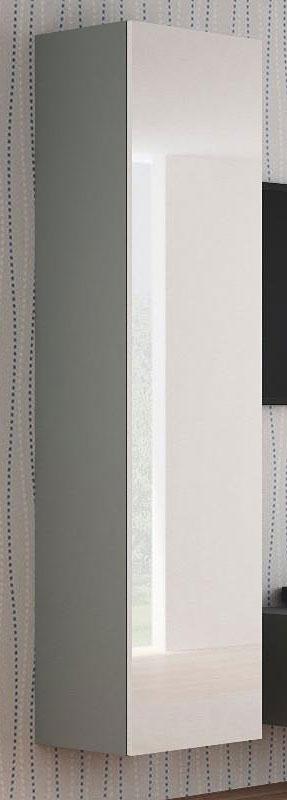 Lakierowana szafka wisząca 180 cm biało-szara Vomes 9X