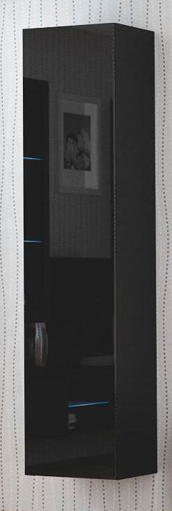 Wysoka czarna szafka z półkami Vomes 9X