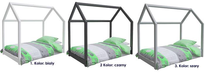 kolory łóżka domek