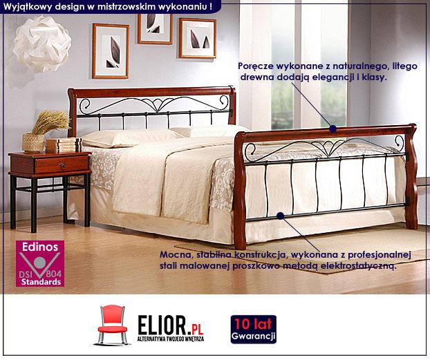 łóżko metalowe elior