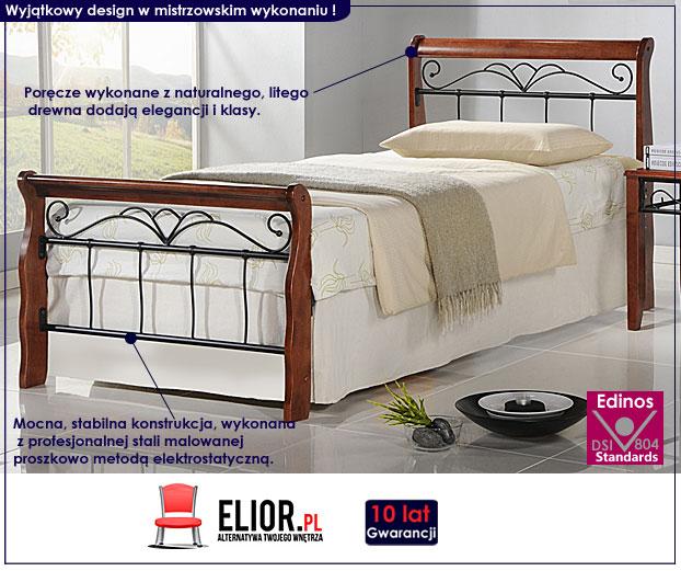 łóżko jednoosobowe czereśnia antyczna