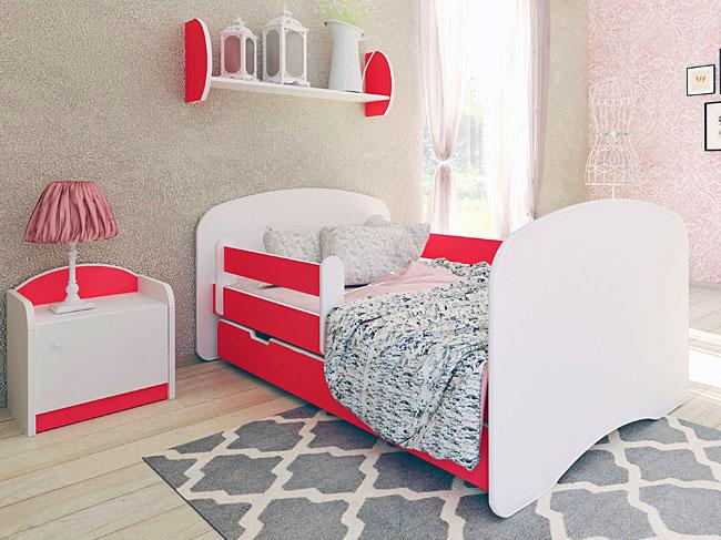 łóżko dziecięce czerwone