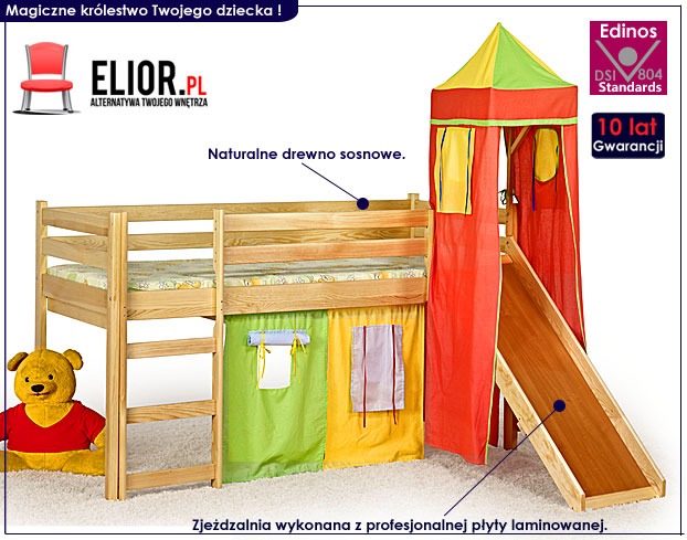 łóżko zjeżdzalnia dla dzieci