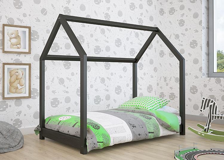 łóżko domek kolor czarny