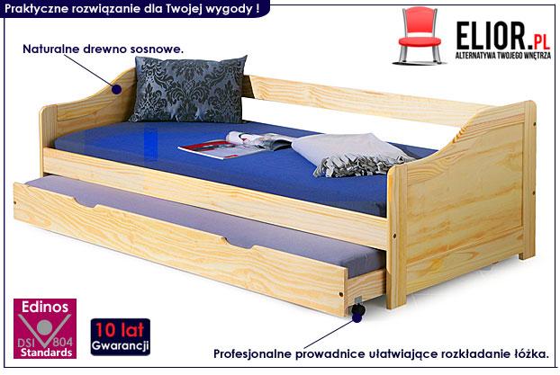 łóżko drewniane dzieci