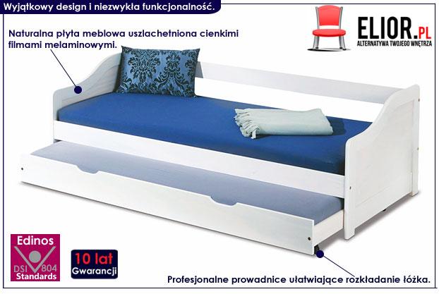 łóżko białe podwójne