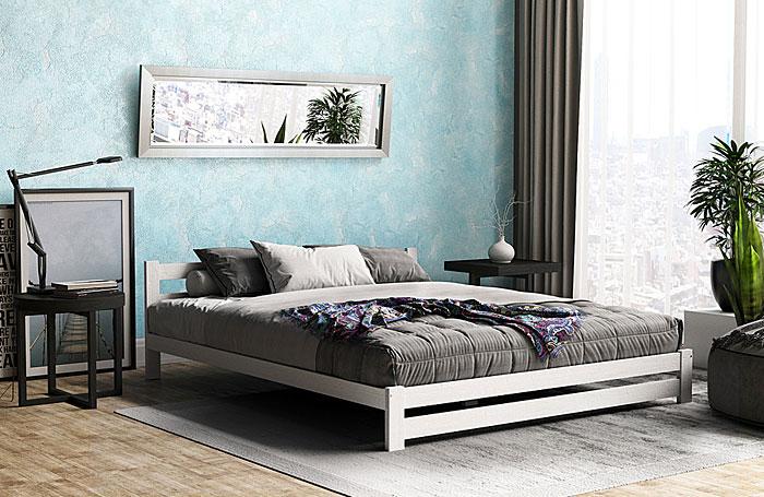 łóżko czarne marsel drewniane