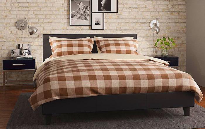 łóżko skórzane czarne tapicerowane