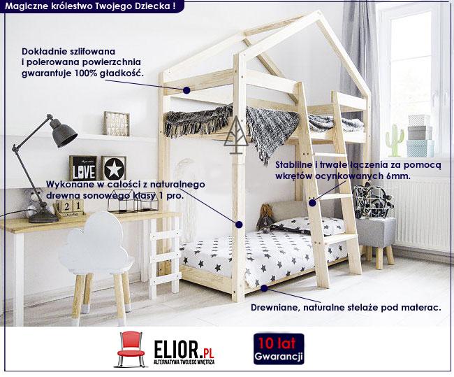 piętrowe łóżko domek dla dzieci
