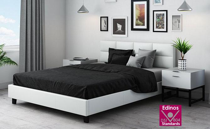 łóżko mires pikowane białe