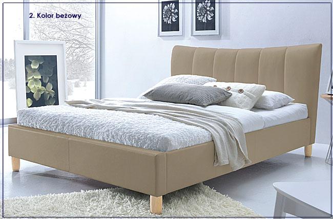 łóżko beżowe sandis