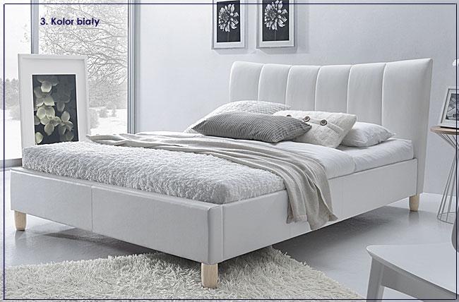łóżko białe sandis