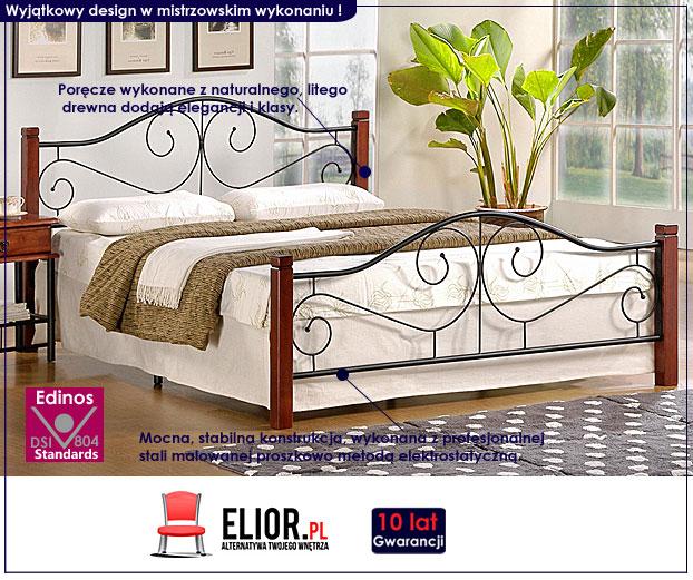 stylowe łóżko drewniane