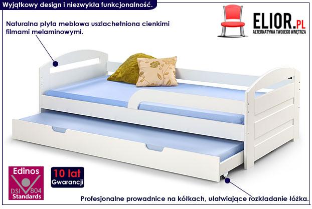 łóżko rozsuwane białe