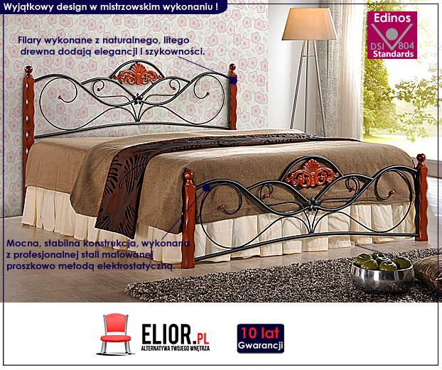 łóżko metalowe valentis