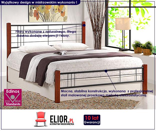 łóżko drewniane czereśnia