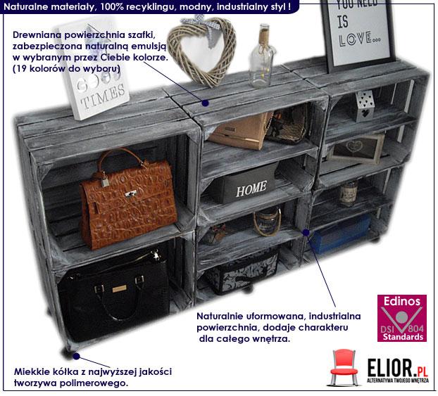 szafka drewniana industrialna na buty