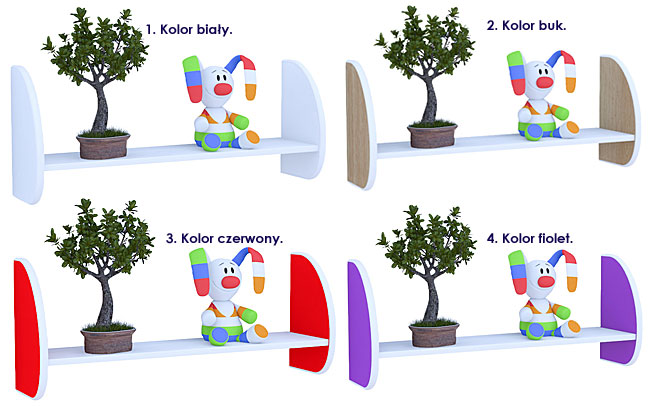kolory półek ściennych dla dzieci