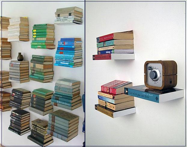 półka na książki niewidzialna