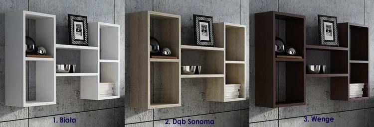 Półka wisząca do salonu, kuchni, sypialni Lensa 2X