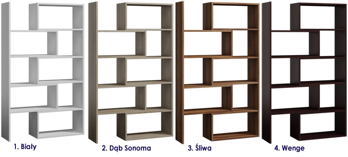 Regał z 9 półkami na książki, zabawki, dokumenty Irvan 3X