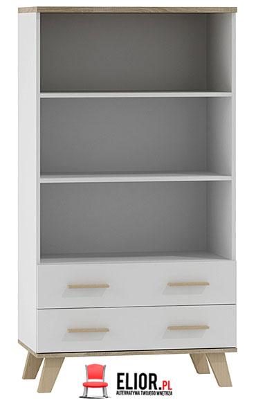 Minimalistyczny biały regał do salonu, sypialni Lefis 6X