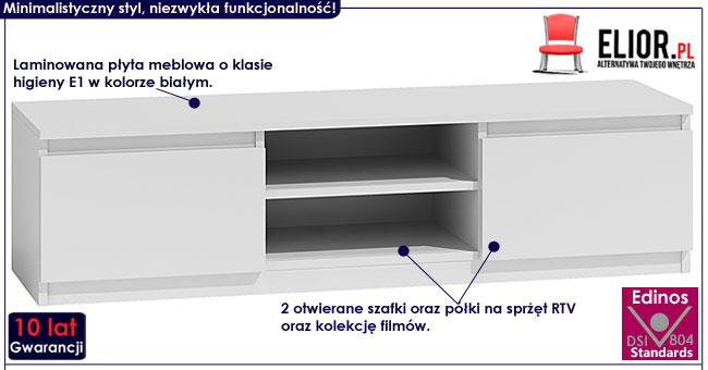 Biała szafka pod telewizor Verta