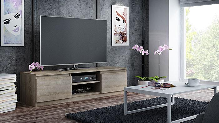 Nowoczesna szafka pod telewizor dąb sonoma Verta 3X