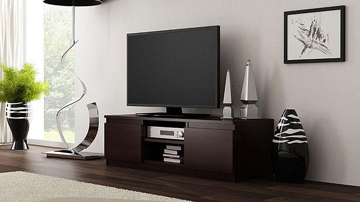 Szafka na telewizor i sprzęt RTV wenge Verta 2X