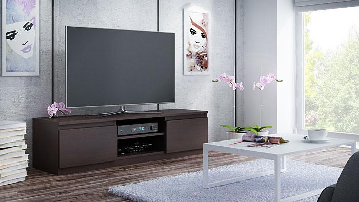 Szafka na sprzęt RTV, LCD wenge Verta 3X