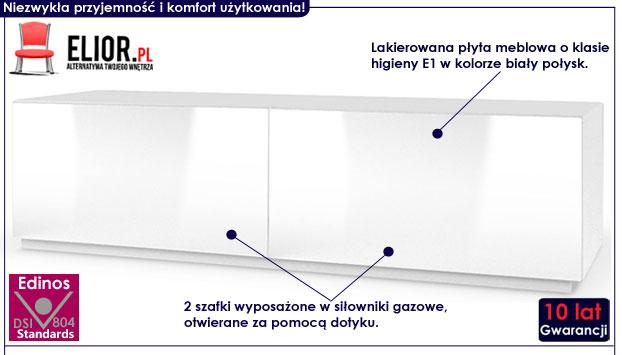 Stojąca biała szafka pod telewizor RTV TV Vomes 6X