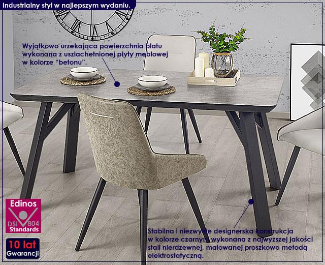 stół industrialny beton